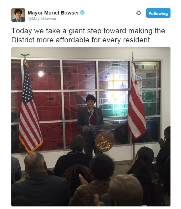 Mayor Bowser Makes Affordable Housing Announcement