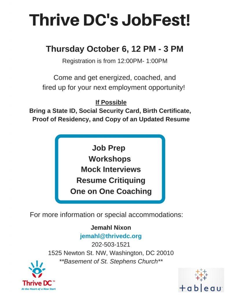 JobFest October 6th